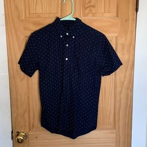 Short Sleeve Polka Dot American Eagle Button-Up